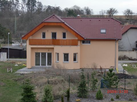Our construction company KOVARO Group sro is pleased to offer you: A two-storey house (5 +1) with an area of 180 m2 on the outskirts of Prague (15 minutes) on a plot of 814 m2. The house is designed for 4-5 family members. Living room area of 35 m2...
