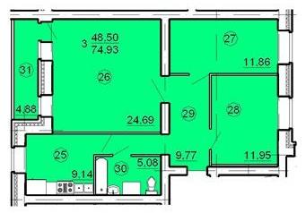 Новое комфортабельное жильё в г. Иваново!!! Предлагаем отличные варианты по разумной цене. В наличии имеются 1, 2, 3, 4-х комнатные квартиры, а также нежилые помещения под коммерческие цели в ведённых в эксплуатацию и строящихся жилых домах с развито...