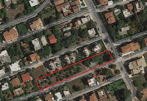 Nea Makri, Attica. For sale plot of land with an area of 1807 sq.m. The property is located 600 meters from the sea and next to the central square of Nea Makri. The plot available for building is 1255.15 sq.m. The total permitted building area is 360...