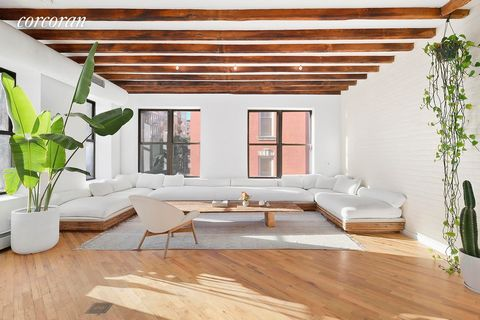Authentic downtown dream loft. Perched above the corner of Eldridge & Rivington Streets in the vibrant Lower East Side, this full floor prewar condo loft spans 1,500 SF of airy, beautifully curated space. Flooded with natural light from thirteen over...