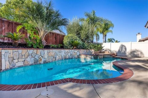 Stunning single level pool home in prime location. Pristine condition. EXTREMELY LOW TAX AREA!! Low HOA Dues. Top Temecula schools! 5 bedrooms 2 baths. Living room and 1 bedroom located off front entry. Spacious family room with fireplace opens to ki...