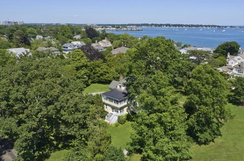 Extraordinary opportunity to purchase 1+ acres in the R-12 zone in a private Old Greenwich waterfront association! Stunning architectural renderings by Wadia Associates showcase proposed renovation of the existing home. Renovate, expand or build new....