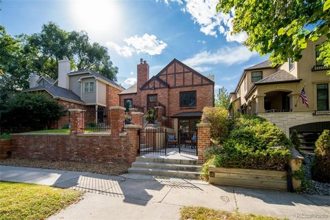 Single Family home in the tree lined streets of Cherry Creek North for under $2million! Come see this beautiful Tudor brick home that was built with the original Cherry Creek standards but renovated to build a second story and an addition to the back...