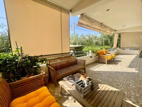 Glyfada golf Maisonette 110sq.m., ground floor, 2 bedrooms, 1 bathroom, 1 wc, independent heating petrol, a/c, fireplace, solar heater, security door, double glazed windows, security alarm system, fully renovated, big balconies, tents, elevator, 1995...