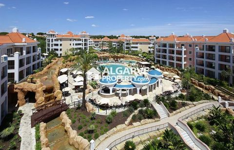 Located in Vilamoura. Spacious and luxurious one-bedroom apartment with 100 sq.m. of built area, South facing, sun drenched and inside the magnificent condominium the Hilton Vilamoura As Cascatas Golf Resort & Spa. Newly luxury property conveniently ...