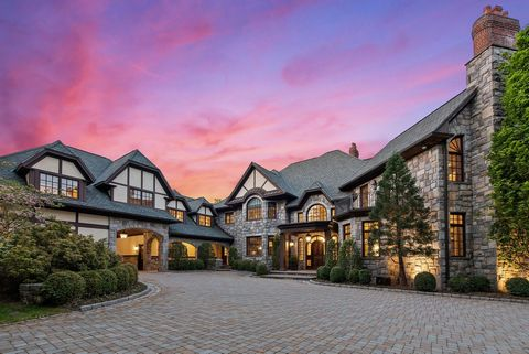 Sands Mill Estates. Magnificent seven-bedroom residence on 2.42-acres in highly prized estate area. Gorgeous grounds with an astounding array of specimen trees, flowering perennials and lush lawns framing delightful outdoor areas including fabulous i...