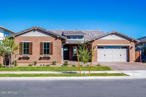 This is it!! Brand new home in one of the most sought after subdivisions in Gilbert: Morrison Ranch!!! Upgrades include stainless steel appliances, 36'' gas cooktop, double ovens, quartz kitchen countertops, Sonoma Slate cabinets with 42'' uppers, ex...