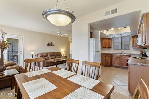 Centrally located in Scottsdale first floor unit with private patio in gated community. Enjoy the variety of nearby restaurants, your choice of local golf courses or relax in your amazing community clubhouse, sparkling pool, soothing spa, or fitness ...