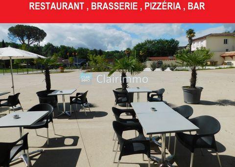 EXCLUSIVITÉ un fonds de commerce Brasserie Pizzeria Licence 4 situé au centre de la ville thermale de Barbotan emplacement avec exposition privilégiée. Magnifique terrasse de 50 places salle de restaurant de 42 places Surfaces: Salle restaurant: 64 m...
