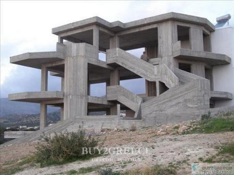 872 - FOR SALE UNFINISHED, 4-FLOORED APARTMENT BUILDING OF 285sqm, WITH 4 WHOLE FLOOR APARTMENTS (EACH CAN BE SOLD SEPARATELY WHEN FINISHED), 100m FROM MARKET, 200m FROM THE SEA, 25km FROM IERAPETRA, 35km FROM SITEIA AIRPORT, MAKRY GIALOS, LASITHI, C...