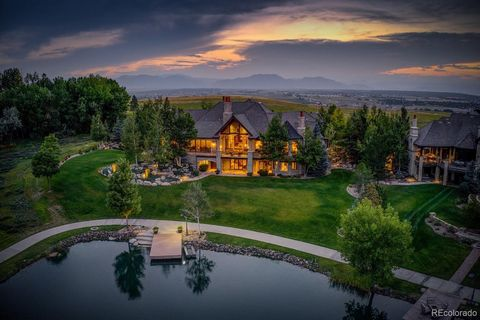 One of the most incredible properties to ever come on the market in Colorado. This sprawling 11,393 square foot home was custom built with every attention to detail imaginable. Every facet and building material of this home are absolutely top-of-the-...