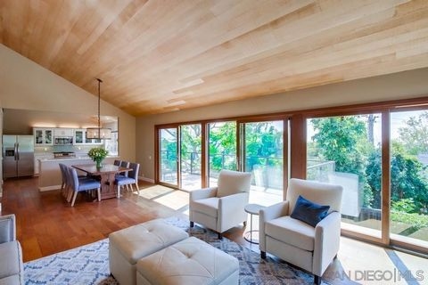 Relish in an abundance of privacy in this beautifully remodeled Bird Rock home. Fully gated and located at the end of a cul-de-sac, this warm and gracious residence offers ocean views, a fantastic location close to all Bird Rock has to offer yet is s...