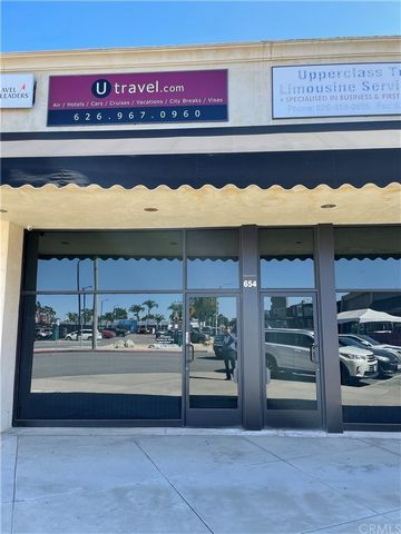 Beautiful office building in a busy shopping center. Located in the busy section of Covina. The property is in excellent shape. New condition carpeting, tiled bathrooms and recessed lights. Two toilets and two entryways to the property. The center ha...