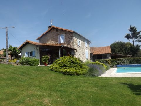 Fabulous 4 bedroom property in quiet location with beautiful views, ideal equestrian centre, around 6 hectares of land and with a lake with cabine. This house is set in a quiet hamlet only 5 minutes from St Junien by car. The house on the ground floo...