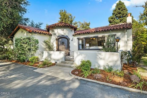 Built in 1926, this charming 3 bed 4 ba Spanish inspired home has been cherished for generations. Surrounded by trees and lush landscape, the 16,257 sq foot gated property includes a 2383 sq ft. main house, 570 sq ft. guest house & 198 sq. ft. worksh...