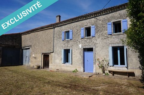 On the axis Angoulême Poitiers, less than 2 kilometers from the RN10 (15 minutes from Angoulême north), in the heart of a hamlet, very nice farmhouse of 112 m² habitable (including 86 m² heated). On the ground floor, entrance, living room and kitchen...