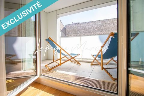 Marcadet district, in the heart of the 18th arrondissement, a stone's throw from Montmartre. Enjoy a break of calm and greenery. On the 3rd floor of a 2020 luxury residence: highly secure, decorated by contemporary artists, disabled access and high-e...