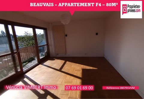 Beauvais in quiet area, Beautiful bright apartment of 80 m² located on the 2nd floor of a secure residence including: Large entrance, Living room with balcony, Fitted kitchen, Corridor serving 3 bedrooms, Shower room, WC, Laundry / Dressing room, Par...