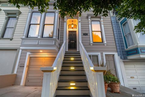 Idyllically located vacant two unit property blends timeless elegance with convenience of a modern open kitchen floorplan. Constructed by well-known Victorian builder, the residence's street-facing facade was reconstructed to highest standards of his...
