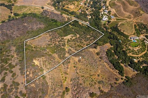AVOCADO TREES - CITRUS TREES - WATER ON SITE!! 19.6 acres located in the spectacular area of De Luz, Temecula! Don't let this fantastic opportunity slip by to own this wonderful acreage in the highly desired area of SoCal!