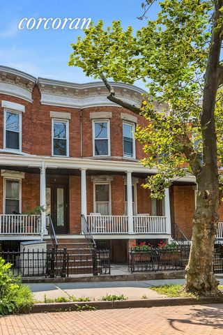 Truly one of a kind, 1886 Stockholm Street, is a show-stopping 2-unit townhome on the idyllic landmarked block of Stockholm Street. One of the only cobble stone streets in Ridgewood, known for its big front porches, limestone barrel front homes, and ...
