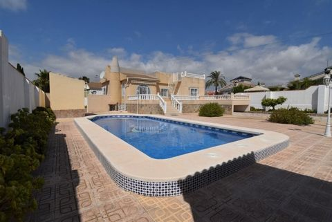 A Beautiful Four Bedroom, Three Bathroom Detached Villa with swimming pool, large gardens, seating areas and garage, for sale in San Luis close to Torrevieja. Situated on a quiet street just a few minutes walk to many amenities, plus a short drive to...