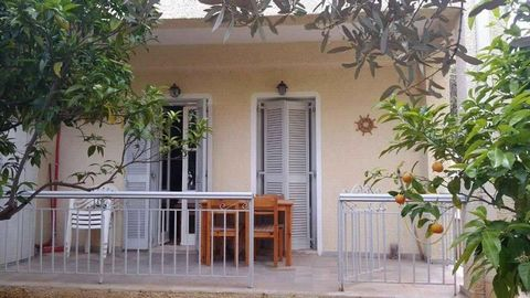 Spetses. Apartment 35 sq.m, ground floor, renovated, built in the 1995. Consists of: living room with kitchen, one bedroom, bathroom with shower, furnished (sofa bed, dining table with chairs, garden table with chairs, double bed, 2 wardrobes, fridge...