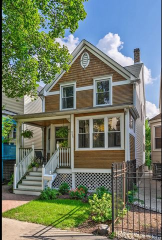 Logan Square gems don't come up very often! Beautiful and bright- this updated Victorian, cedar sided, home has everything you need. Walk into your spacious mudroom/entryway with plenty of build-outs for shoes and coats. Head into the separated forma...