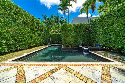 This two-story, Mediterranean-inspired home situated in Miami Beach's Bayshore neighborhood seeks a new family. With 4 bedrooms and 3.5 bathrooms, original tile floors and a fireplace, this house is dripping with 3,897-square feet of charm. Surrounde...