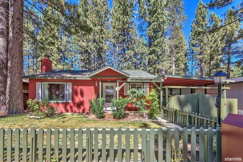 Nestled in the quiet neighborhood of Tahoe Sierra, this perfect location is close to everything. Adorable chalet 2 blocks away from a beautiful meadow but still close to down town shopping, casinos, the lakefront and ski resorts. Enjoy the spacious o...